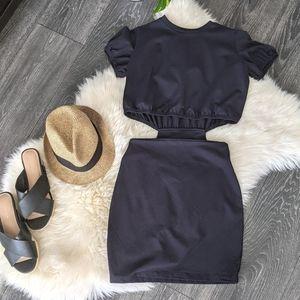 SUSANA MONACO - Cut-out Short-sleeved Mini Dress